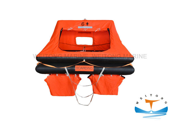 Water - Proof Cloth Yacht Life Raft , Safety Raft Boat For Vessels Sailing
