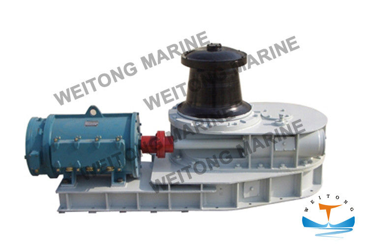 Horizontal Marine Capstan Anchor Winch 9m / Min Speed With Motor And Reducer