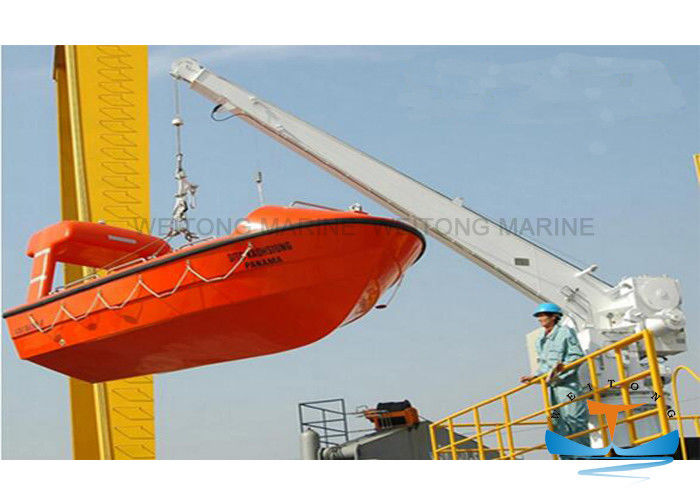 Single Arm Fast Rescue Boat Davit 14kn Hoisting Load 18 M/Min Hoisting Speed