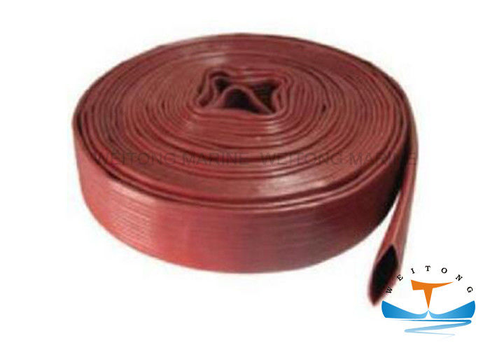 PVC Marine Fire Fighting Equipment Fire Resistant Lining Fire Hose 3MPa Working Pressure