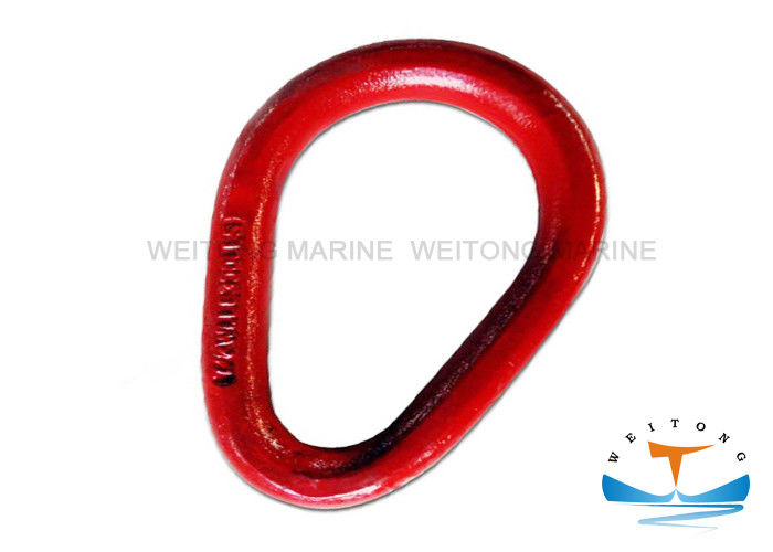 Stainless Steel Rigging Lifting Equipment Forged Pear Shaped Link 0.5T-150T