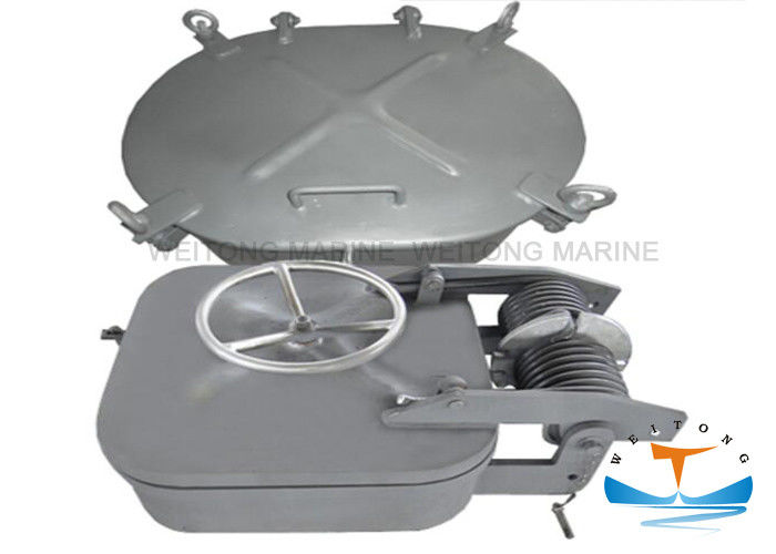 Square Type Marine Hatch Cover 400x500-600x600mm Size 12mm Cover Thickness