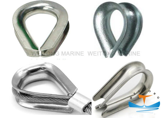 Hoisting Rigging Marine Wire Rope Thimble Bright And Smooth With Hot Dip Galvanized